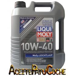 ACEITE LIQUI MOLY  MoS2-LEICHTLAUF SAE 10W40 5 LITROS
