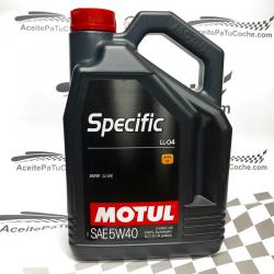 ACEITE MOTUL SPECIFIC BMW LL-04 5W40 5 LITROS