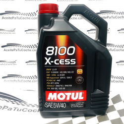 ACEITE MOTUL 8100 X-CESS 5W40 5 LITROS