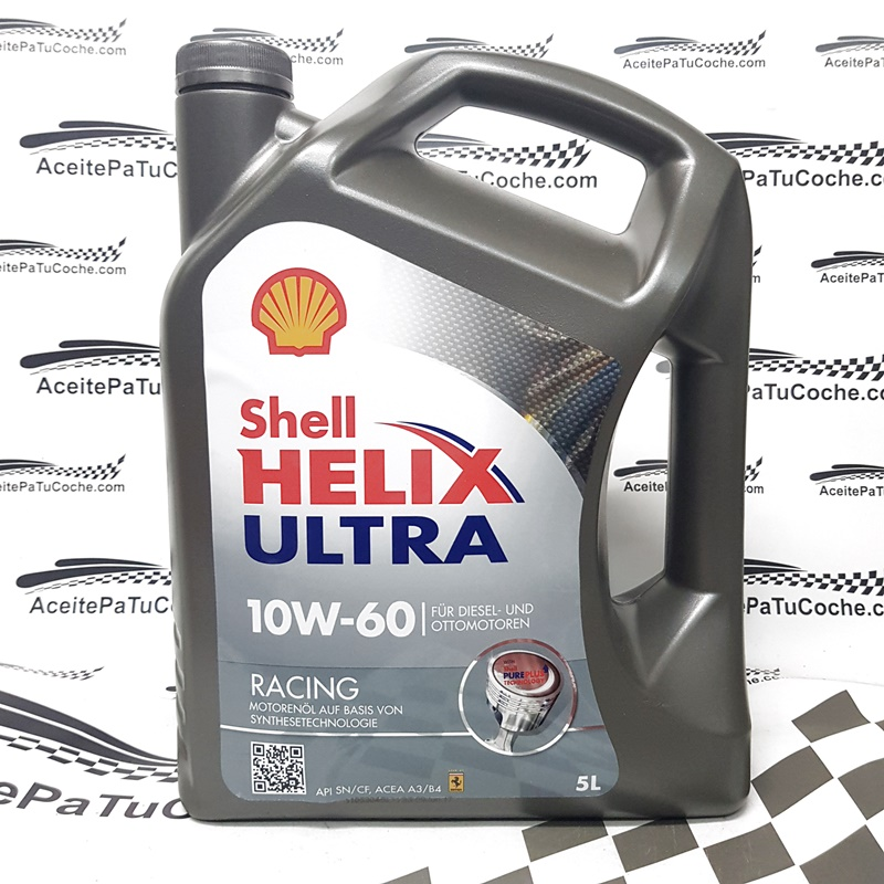 ACEITE SHELL HELIX ULTRA RACING 10W60 5 LITROS