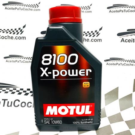ACEITE MOTUL 8100 X - POWER 10W60 1 LITRO