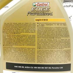 ACEITE CASTROL EDGE PROFESSIONAL LONGLIFE III 5W30 5 LITROS