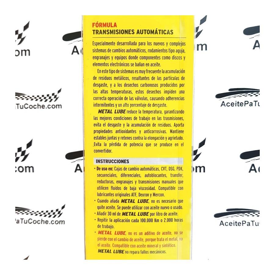 METAL LUBE TRANSMISIONES AUTOMÁTICAS 120 ML.