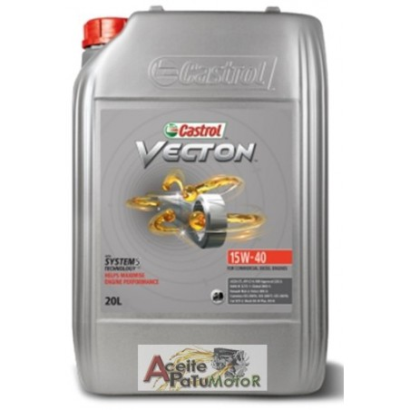 ACEITE CASTROL VECTON 15W40 20 LITROS